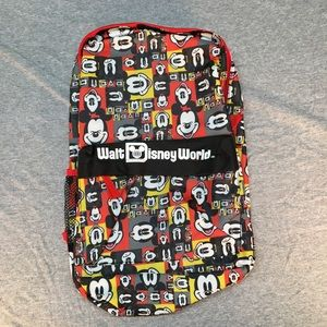 Walt Disney World Mickey Mouse Backpack -Red *NEW*